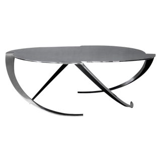 Espiral Polished Steel Coffee Table by Atra For Sale