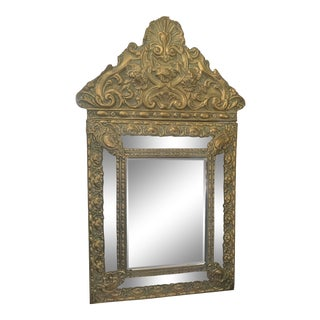 French 19thC Repousse Mirror For Sale