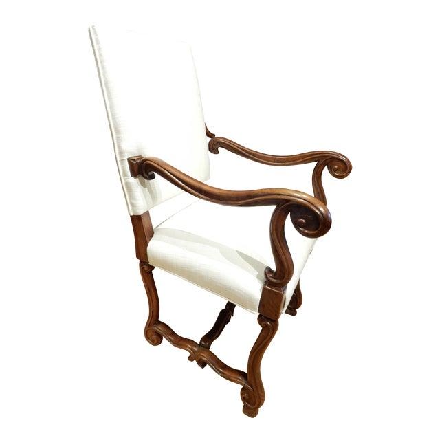 Late 19th Century Italian Walnut Armchair For Sale
