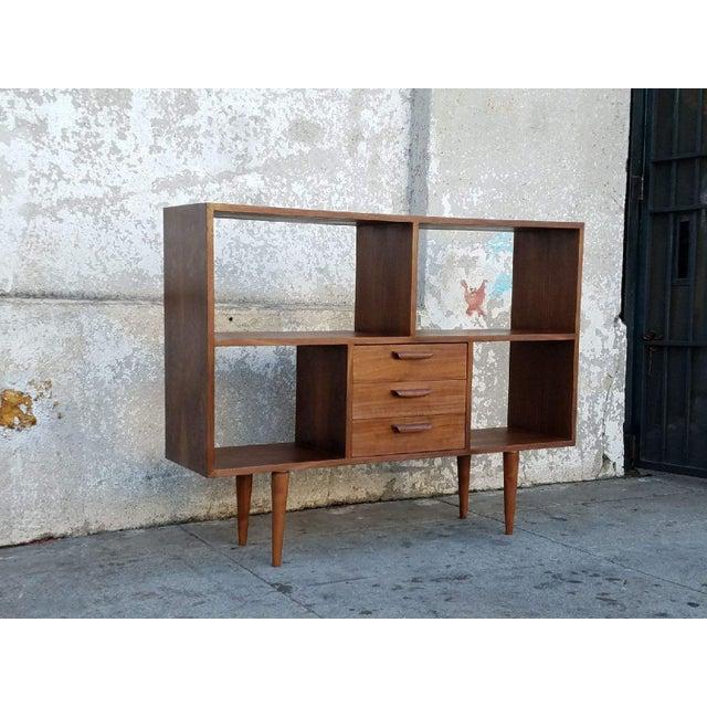 Mid-Century Modern Vintage Modern Walnut Bookshelf For Sale - Image 3 of 5