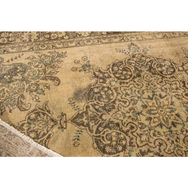 "Textile Apadana Vintage Tabriz Rug - 6'6"" x 9'3"" For Sale - Image 7 of 7"