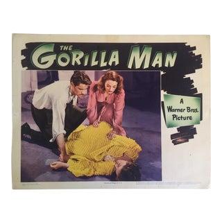 "Rare Vintage 1943 Original Lobby Card Print "" the Gorilla Man "" Movie Memorabilia Poster For Sale"