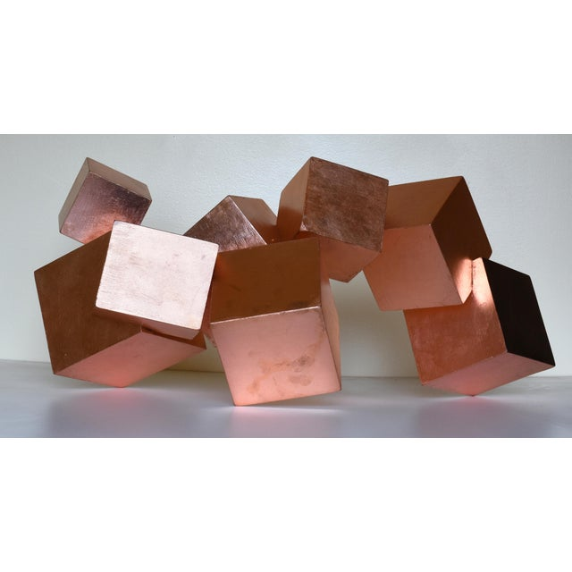 Abstract Copper and Mahogany Pyrite Sculpture For Sale - Image 3 of 13