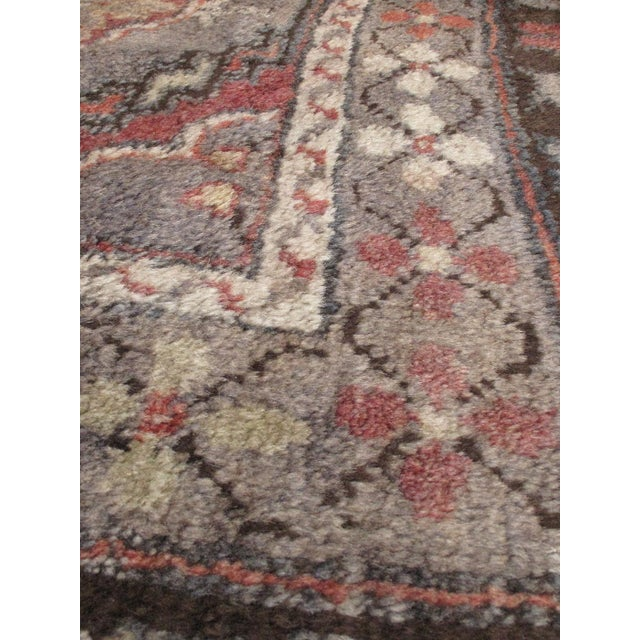 "Vintage Konya Anatolian Turkish Rug- 7'6"" X 12'2"" - Image 2 of 2"