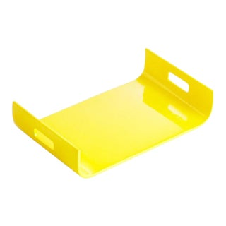 Yellow Lacquer Tray For Sale