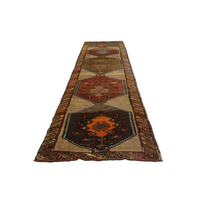 Add personality to your space with a modern take on eclectic style. This vintage Turkish Oushak runner with modern...