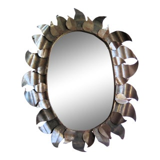 Brutalist Steele Wall Mirror For Sale