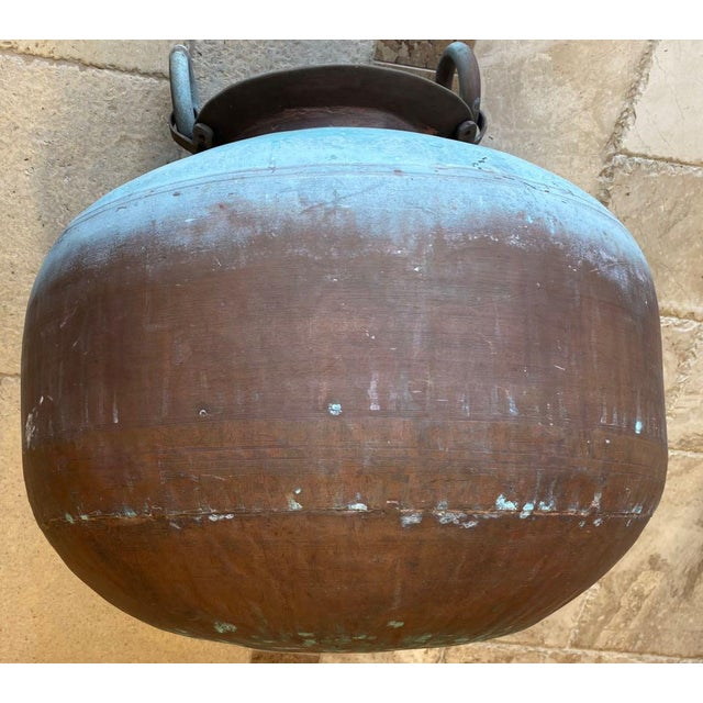 Mid 19th Century Antique Indian Copper Water Pot For Sale - Image 5 of 13