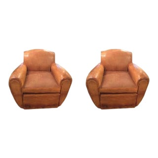 Mid Century Modern Italian Club Chair, C.1940, Sold as a Pair For Sale