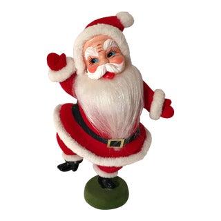 20th Century Americana Dancing Santa Velvet Figurine For Sale