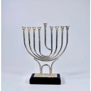 Silver Plated Menorah Candle Holder Preview