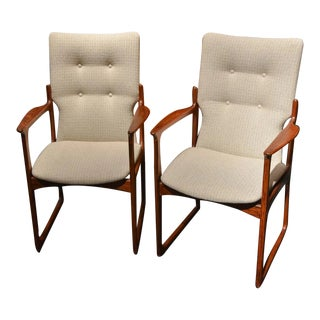 Vintage Mid Century Danish Rosewood Chairs - a Pair For Sale