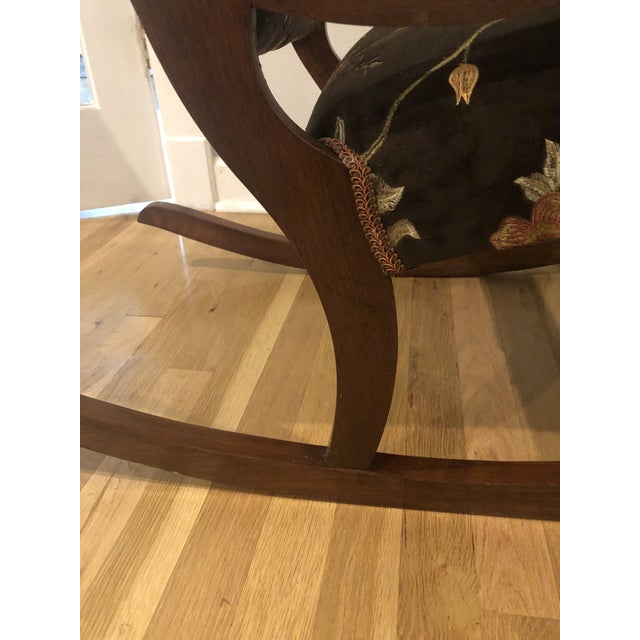 1920s Antique Mahogany Low Arm Rocker For Sale - Image 5 of 10