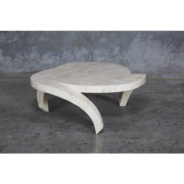 """Fiberglass 1990s Post-Modern Tessellated Cantor Stone """"Hurricane"""" Coffee Table For Sale - Image 7 of 10"""