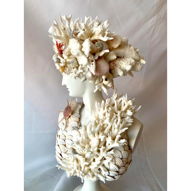 Classical Shell-Encrusted Marble Diana For Sale In West Palm - Image 6 of 9
