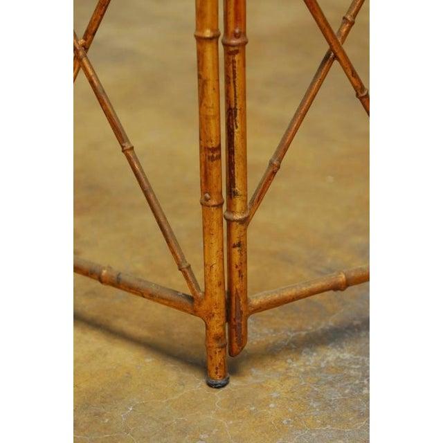 Metal Gilt Metal Faux Bamboo Gazebo For Sale - Image 7 of 10