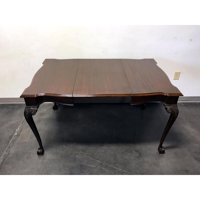 Drexel Heritage Heirlooms Chippendale Mahogany Ball Claw Card Table For Sale - Image 9 of 11