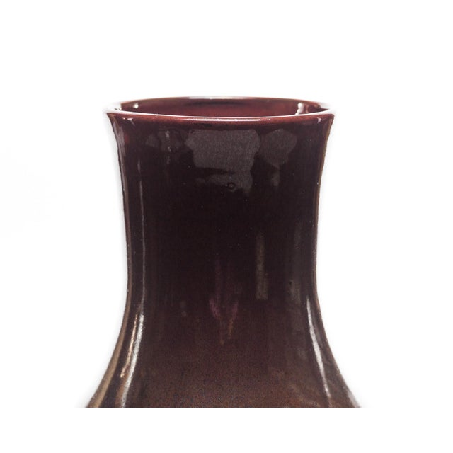 Porcelain vase with brown glaze and subtle ring detail. Made exclusively for Lawrence & Scott. Materials: Porcelain...
