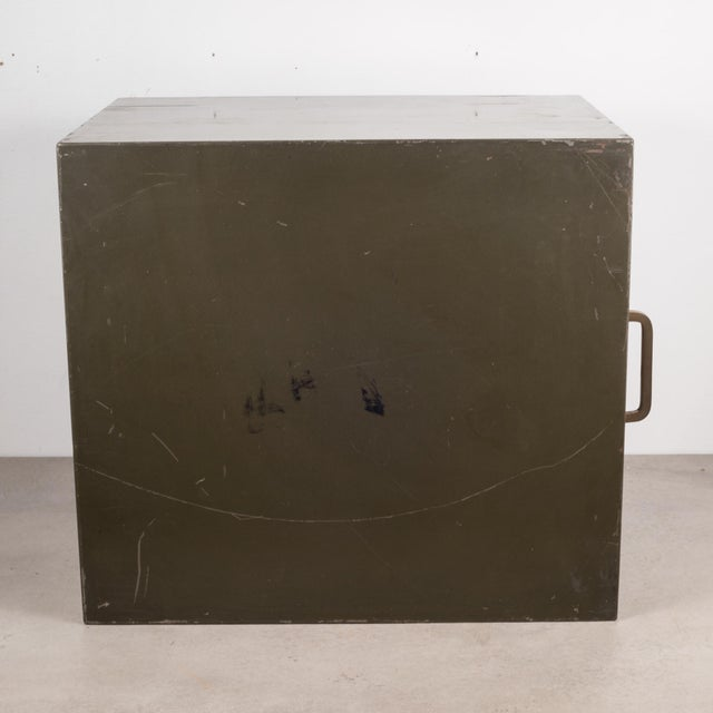 Industrial Factory Two Drawer Cabinet With Brass Pulls C.1940 For Sale - Image 9 of 12