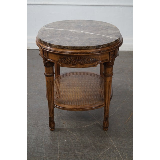 Hollywood Regency Marble Top Side Table For Sale - Image 3 of 10