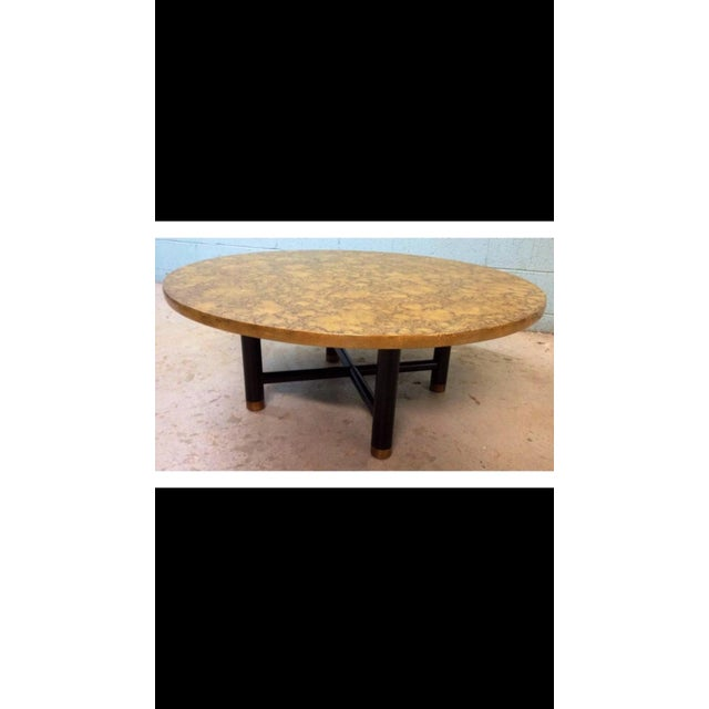 Vintage Henredon Black & Gold Coffee Table