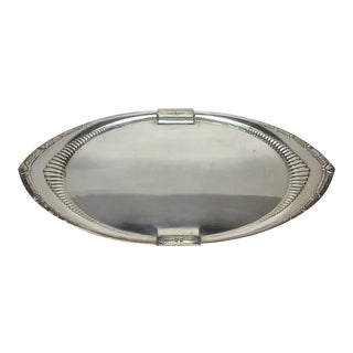 1930s German Art Deco w.m.f. Oval Tray For Sale