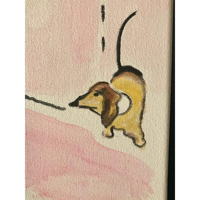 "Marcel Vertes Contemporary ""Salut de Schiaparelli Fragrance"" Acrylic Painting After a 1940s Advertisement For Sale - Image 4 of 5"