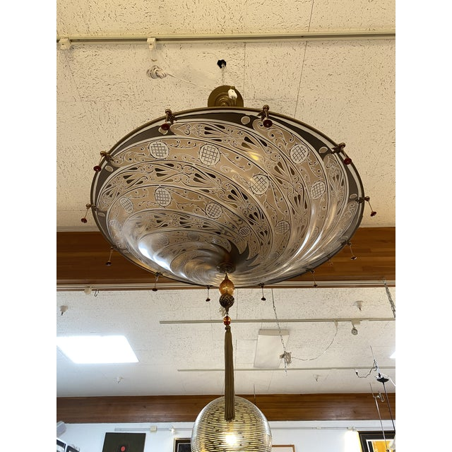 Mariano Fortuny Archeo Venice Murano Glass Chandelier For Sale - Image 12 of 13