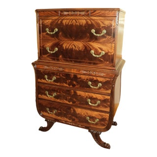 Federal Duncan Phyfe Mahogany Chest on Chest