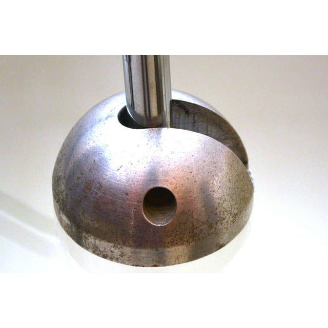 Silver Mid-Century Modern Counterbalance Desk Lamp Attributed to Gae Aulenti For Sale - Image 8 of 10