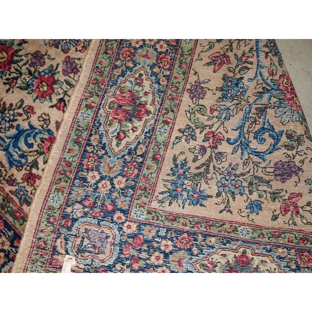1920s, Handmade Antique Persian Kerman Rug 4.2' For Sale In New York - Image 6 of 11