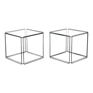 Post Modern Max Sauze Isosceles Iron Side Tables - a Pair For Sale