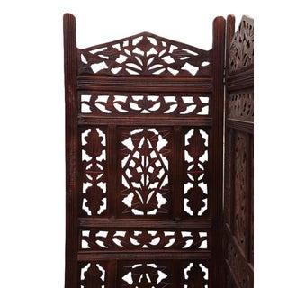 Walnut Stain Moorish Folding Screen Preview