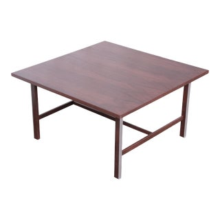 Paul McCobb for Calvin Walnut and Aluminum Coffee Table, Newly Restored For Sale
