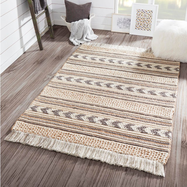 Textile Esme Charcoal Hand Woven Area Rug 2' X 3' For Sale - Image 7 of 8