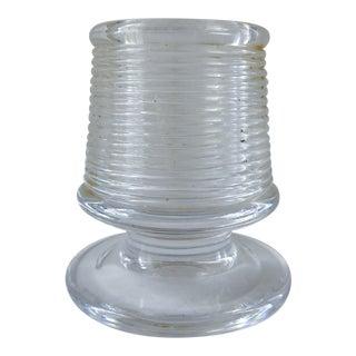 Vintage Heavy Glass Match Striker For Sale