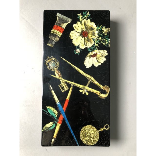 Illustration Fornasetti Decorative Wooden Box For Sale - Image 3 of 10