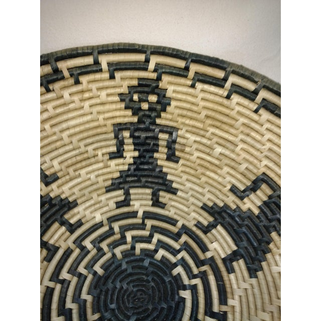Vintage Figurative Woven Sri Lankan Festival Grain Basket For Sale - Image 4 of 7