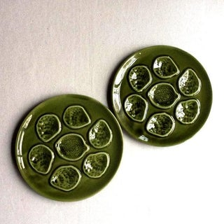 Vintage French Faience Pottery Oyster Plates - a Pair Preview