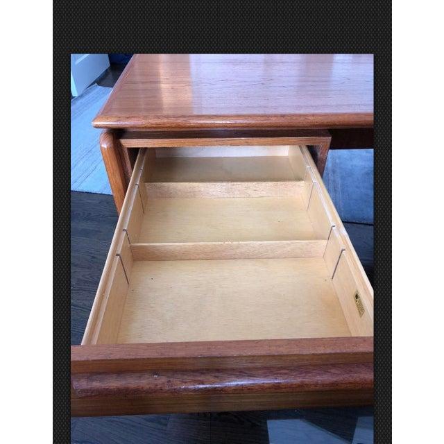 Danish Modern Danflex Systems Mid-Century Floating Top Teak Desk For Sale - Image 3 of 11