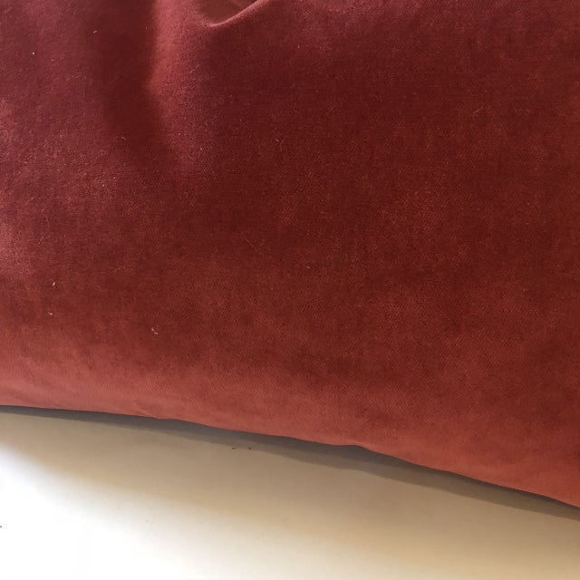 Gorgeous umber velour accent pillow is the same on both sides. Custom made in new designer upholstery velvet. This is a...