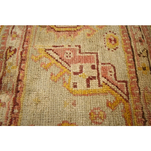Late 19th Century Antique Wagireh Turkish Oushak Hallway Runner Rug - 2′ × 8′10″ For Sale - Image 4 of 8