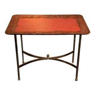 Vintage Cinnabar Lacquer Tray Table For Sale