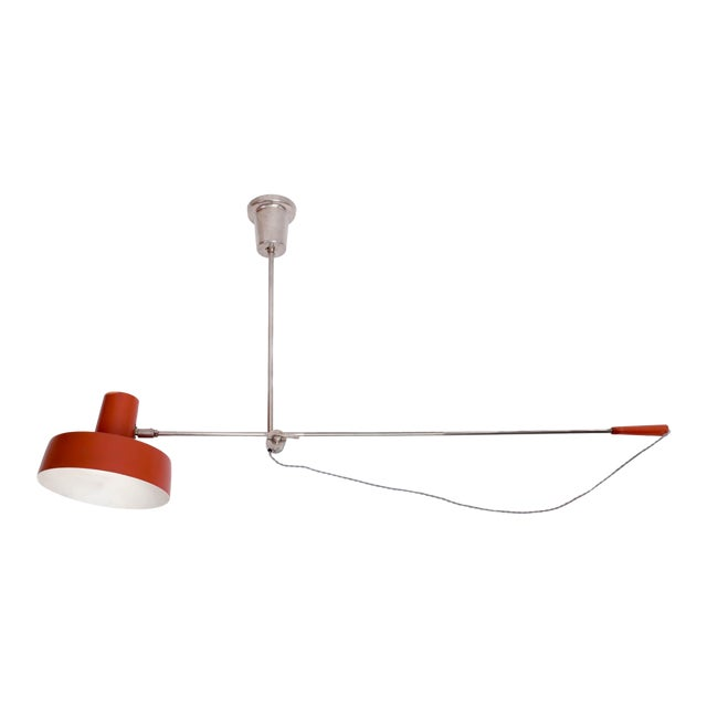 1950s Mid-Century Modern Swing Arm Ceiling Light For Sale