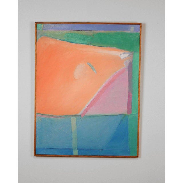 Abstract 1980s Richard Diebenkorn Style Abstract Expressionism Painting For Sale - Image 3 of 6