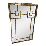 Image of Vintage Hollywood Regency Faux Bamboo Mirror For Sale