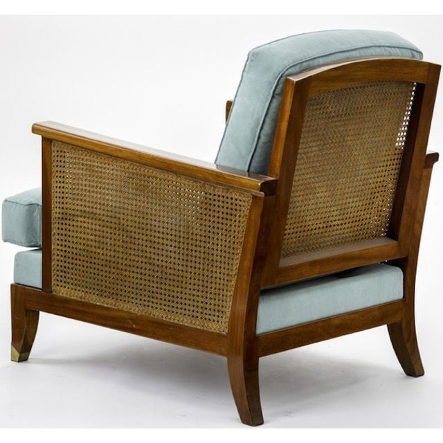 Maurice Jallot Maurice Jallot Refined Caned Arm Chair(attributed) For Sale - Image 4 of 5