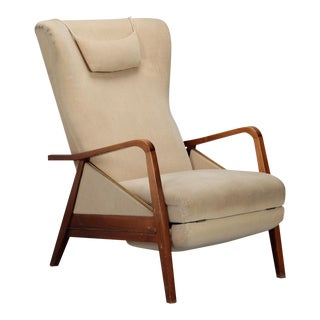 Mid-Century Italian Reclining Chair For Sale