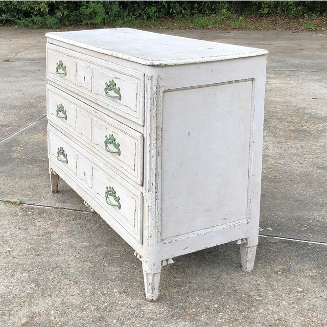 18th Century French Louis XVI Painted Commode For Sale - Image 4 of 12