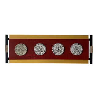 Asian Style Wall Sculpture For Sale